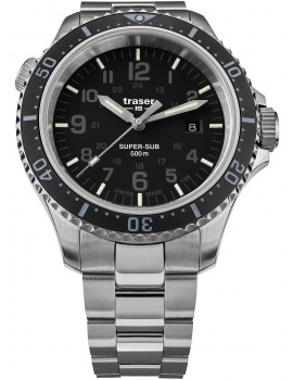 Traser H3 109378 P67 T25 SuperSub black 46 mm diver 50ATM
