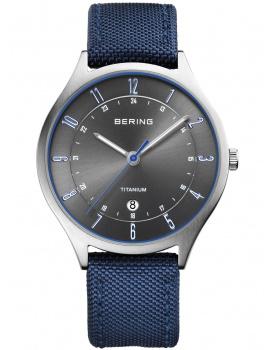 Bering 11739-873 Titanium Men's 39mm 5 ATM
