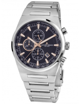 Jacques Lemans 1-1734B Manchester Chronograph Men's 43mm 10 ATM