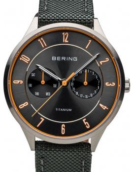 Bering 11539-879 titanium men`s 39mm 5ATM