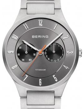 Bering 11539-779 titanium men`s 39mm 5ATM