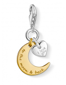 Thomas Sabo 1443-413-39 Charm Anhänger I love You to the moon and back