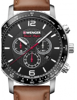 Wenger 01.1843.104 Roadster Black Night Chronograph 44mm 10 ATM
