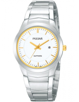 Pulsar PH7261X1 Ladies Watch Silver White Gold Sapphire Glass