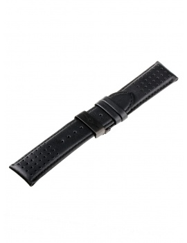 Universal Replacement Strap [24 mm] black + black folding clasp Ref. 23834