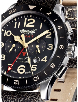 Ingersoll IN3224BK Bison No. 69 GMT Automatické 46mm