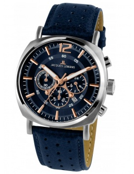 Jacques Lemans 1-1645I Lugano Pánske Chrono 46mm 10ATM