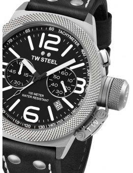 TW-Steel CS3 Canteen Leather Chronograph 45mm 10ATM