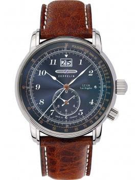 Zeppelin 8644-3 Dual-Time Pánske hodiny LZ126 Los Angeles 43mm 5ATM