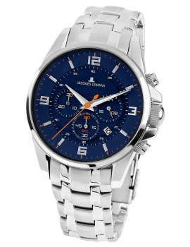 Jacques Lemans 1-1799H Liverpool Men's Chronograph 44mm 10 ATM