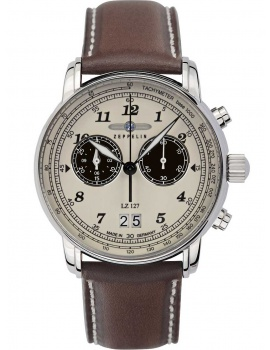 Zeppelin 8684-5 Graf Zeppelin LZ127 big-date chrono 41mm 5ATM