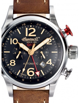 Ingersoll IN3218BK Lawrence GMT Automatické