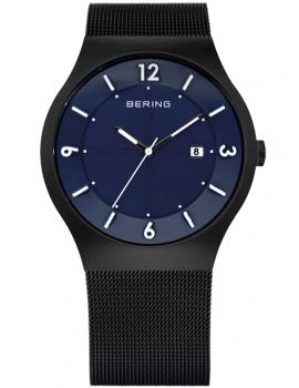 Bering Solaruhr Classic 14440-227 Pánske hodiny čierne modré 40 mm