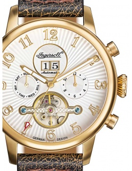 Ingersoll IN1103GWH Cochise Men's Automatic 45mm 10 ATM