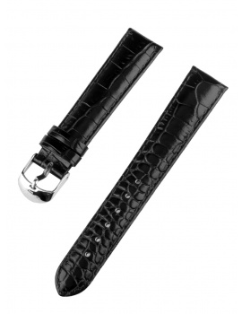 Ingersoll replacement strap [18 mm] black silver clasp Ref. 27188