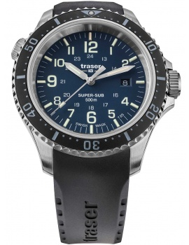 Traser H3 109374 P67 T25 SuperSub blue 46 mm diver 50ATM