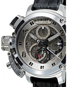 U-Boat 8065 Chimera Skeleton Tungsten sideview Automatic Chronograph 46 mm
