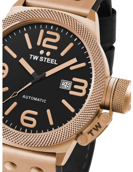TW Steel CS76 Canteen Leather Automatic 50mm 10 ATM