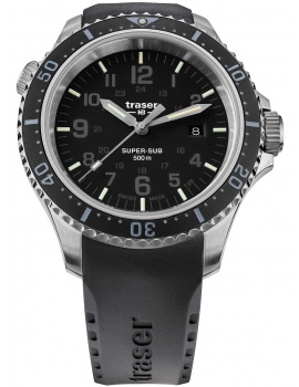 Traser H3 109377 P67 T25 SuperSub black 46 mm diver 50ATM