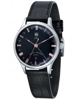 DuFa DF-9006-01 Weimar Men's Watch GMT 38mm 3 ATM