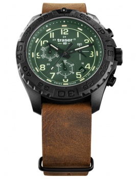 Traser H3 109047 P96 OdP Evolution green Chronograph 44mm 20ATM