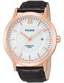 Pulsar PAR184X1 Men's Watch Ružové Gold Brown Kinetic 5 ATM