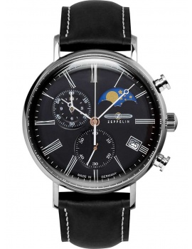 Zeppelin 7194-2 Rome Mondphasen Chronograph 41mm 5ATM