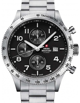Swiss Military SM34084.01 Chronograph 42 mm 10ATM