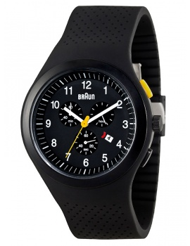 modré BN0115BKBKBKG Men's Chronograph with Silicone Strap