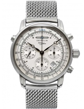 Zeppelin 7618M-1 ED-1 <100 years> automatic chrono 42mm 5ATM