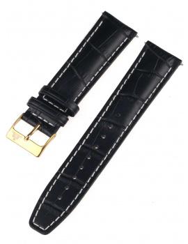 Rothenschild mid-17757 Universal Strap 22mm Black, Gold buckle